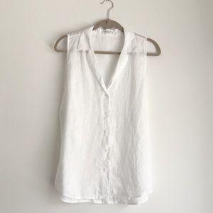 Equipment • White Linen Adlyn Sleeveless Top